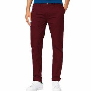 Scotch & Soda men's Stuart slim fit Chino red /burgundy pants size w 33 and 32 L